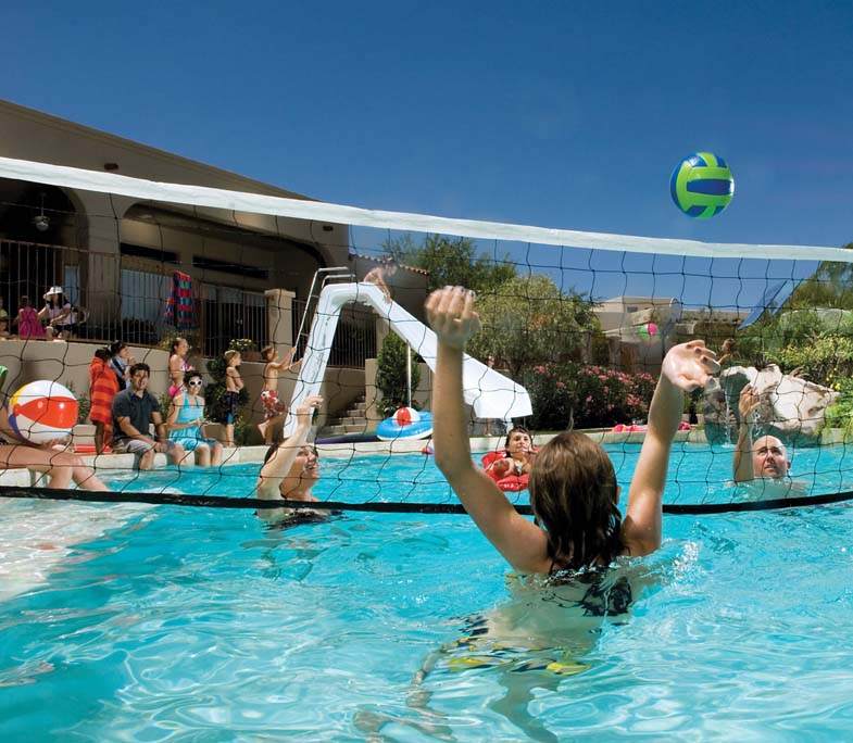 Volleyball Fun - Pool Time