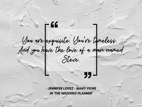 Always the Planner, never the Bride...
