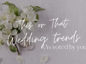 This or That: Wedding trends ...