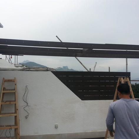 西貢戶外木工程10