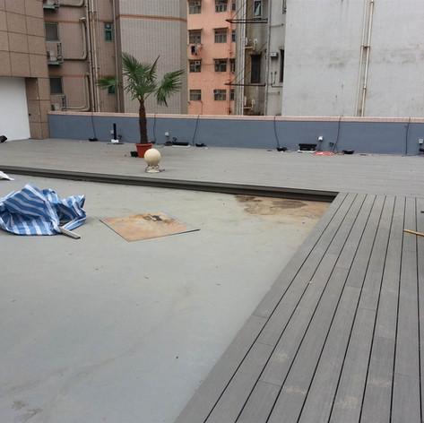 紅磡SAV酒店戶外木工程5