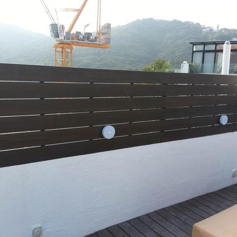 西貢戶外木圍欄工程15