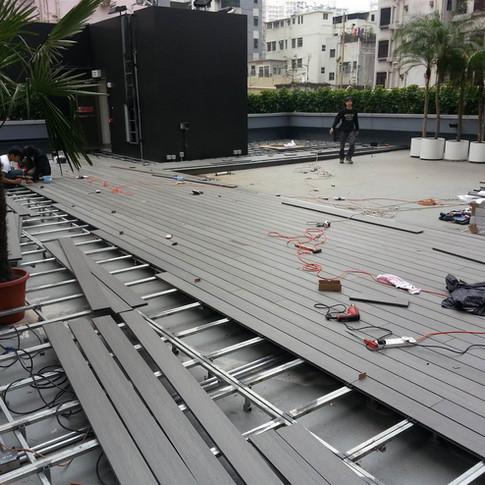 紅磡SAV酒店戶外木工程7