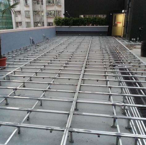 紅磡SAV酒店戶外木工程1