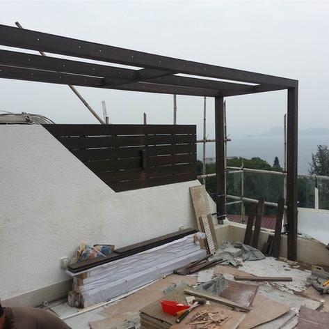 西貢戶外木工程11