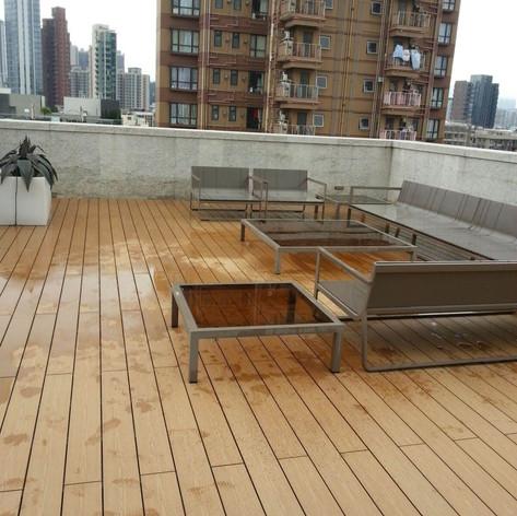 九龍城戶外木地板工程1