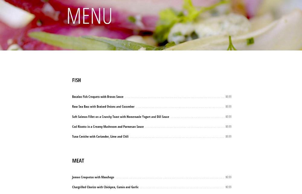 餐廳網站設計-頁4