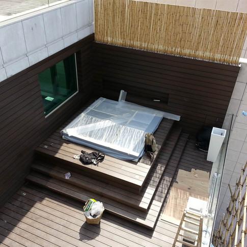 貝沙灣戶外木工程11