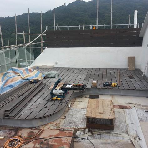 西貢戶外木地板工程17
