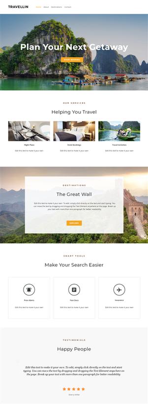網站設計框架2-旅遊主題