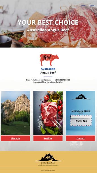 mountainrivermeats-網頁設計