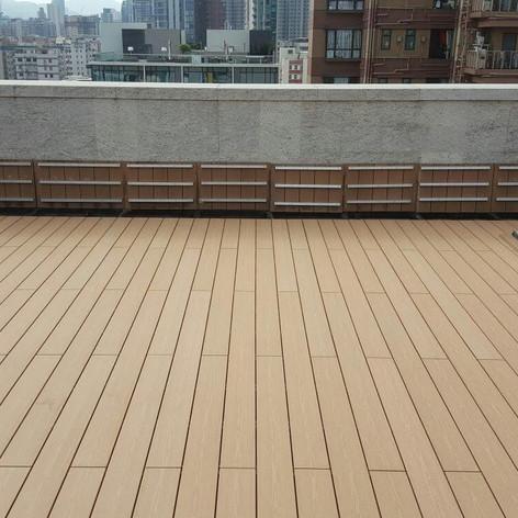 九龍城戶外木地板工程4