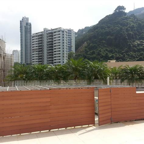 半山嘉慧園戶外木圍欄工程9