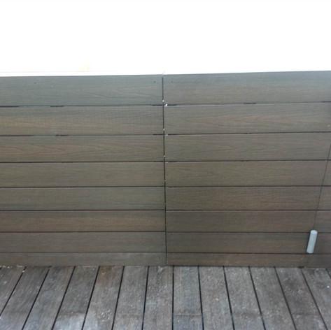 貝沙灣戶外木欄柵工程1