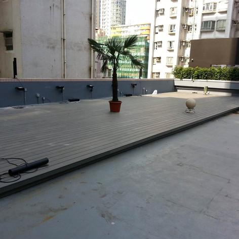 紅磡SAV酒店戶外木工程6