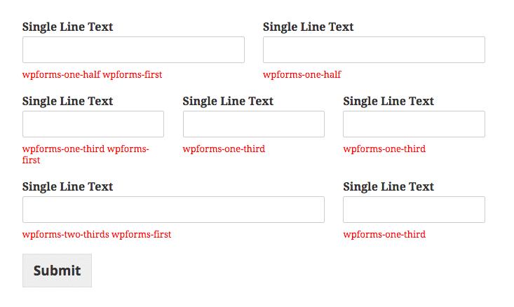 wpforms-CSS表格排版