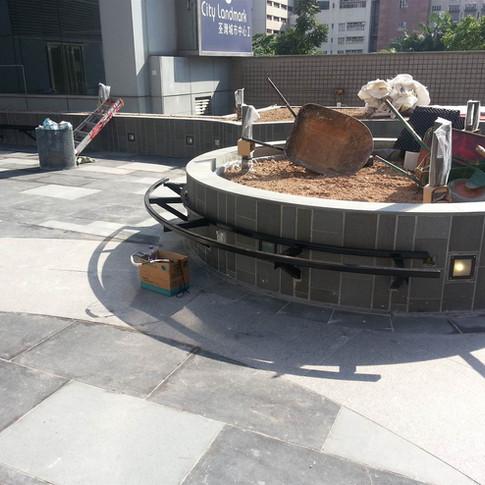 荃灣城市中心戶外木工程6