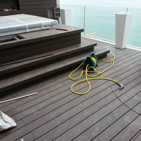 貝沙灣戶外木工程24