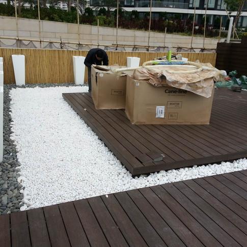 貝沙灣戶外木設計工程7
