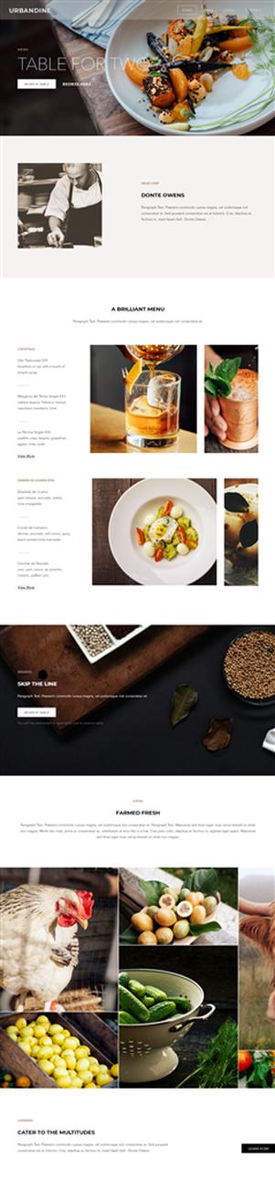 網站設計框架1-餐廳主題
