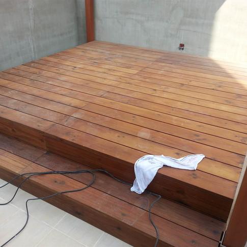 西環戶外木工程2