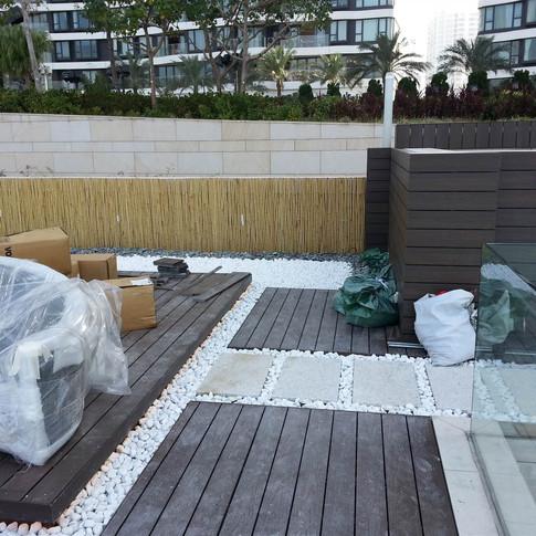 貝沙灣戶外木工程18