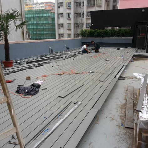 紅磡SAV酒店戶外木工程4