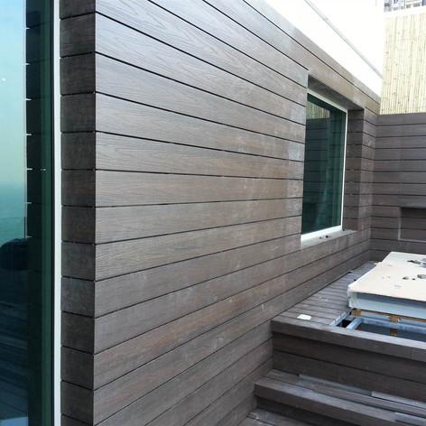 貝沙灣戶外木牆工程10