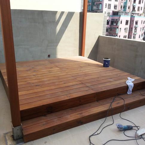 西環戶外木工程1