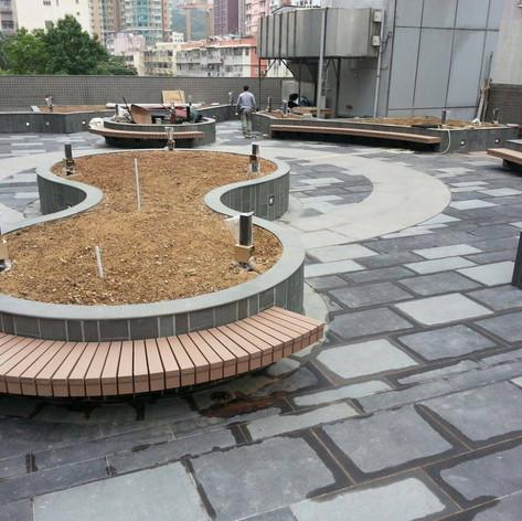 荃灣城市中心戶外木工程1