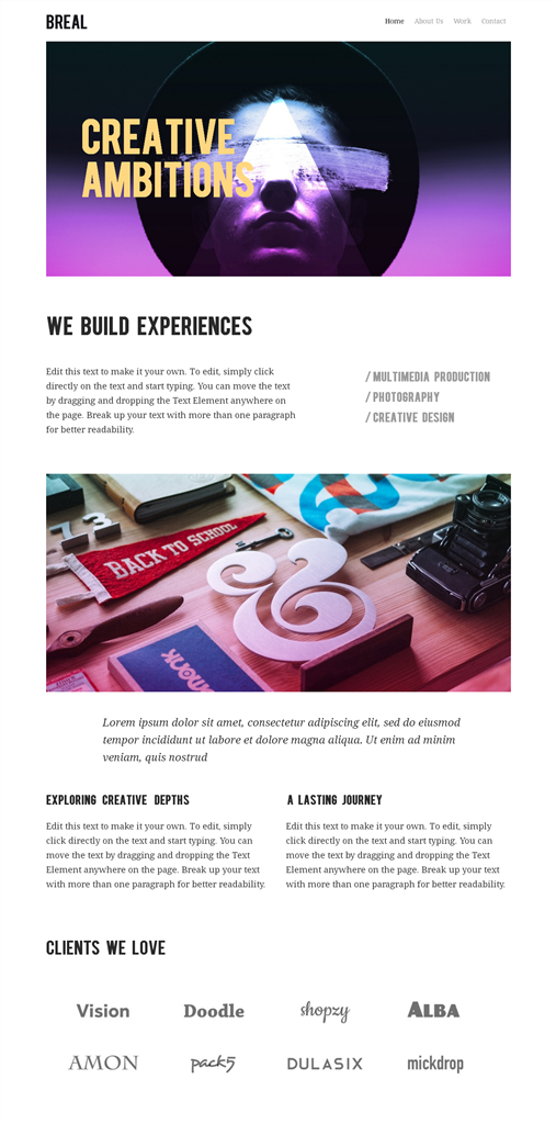 網站設計框架4-產品主題