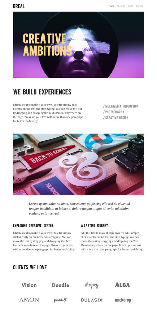 新的網頁設計框架組合