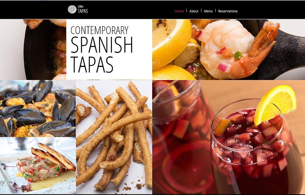 餐廳網站設計-頁1