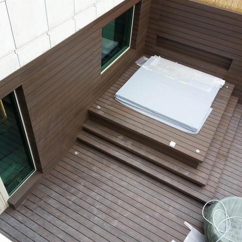 貝沙灣戶外木地板工程8