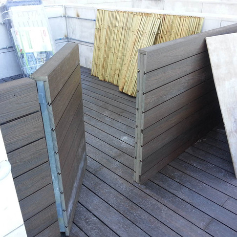 貝沙灣戶外木欄柵工程3