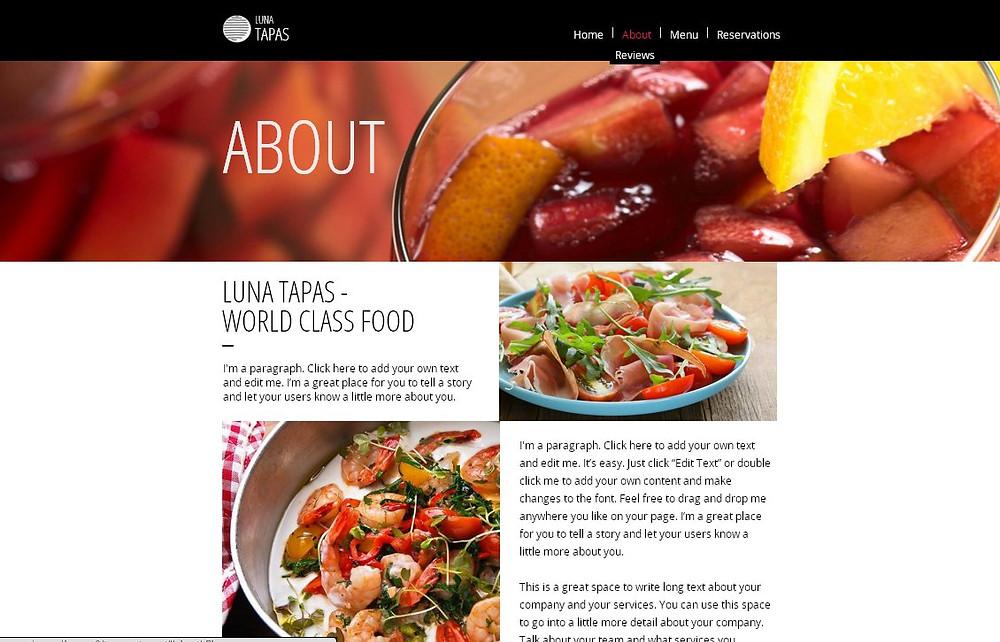 餐廳網站設計-頁2