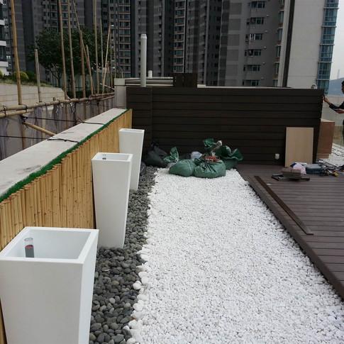 貝沙灣戶外木設計工程5