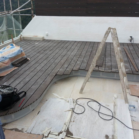 西貢戶外木地板工程18