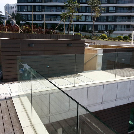 貝沙灣戶外木地板工程4