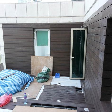 貝沙灣戶外木工程12