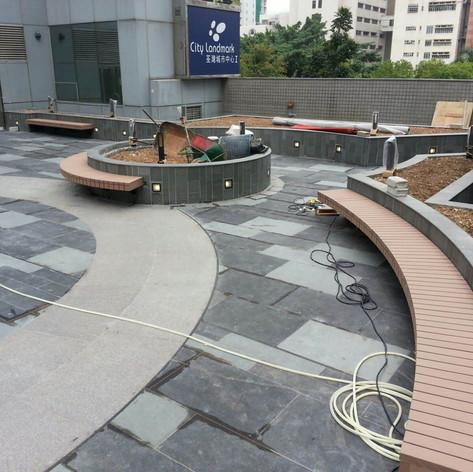 荃灣城市中心戶外木工程11