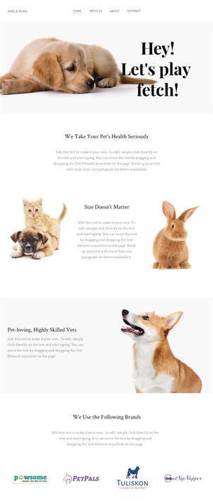 網站設計框架3-寵物主題