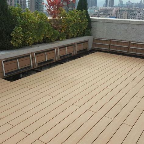 九龍城戶外木地板工程3