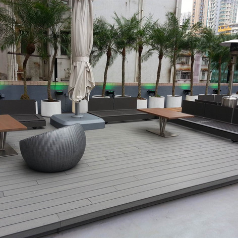 紅磡SAV酒店戶外木工程10