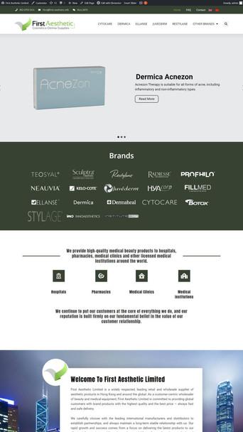 First Aesthetic Ltd 2021網頁設計案例