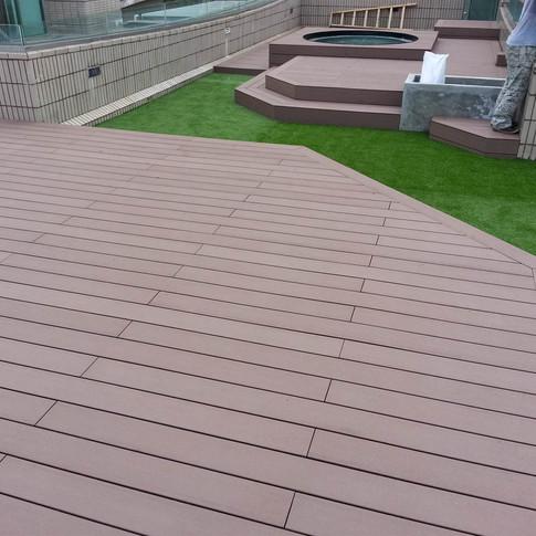 鹿茵山莊戶外木工程30