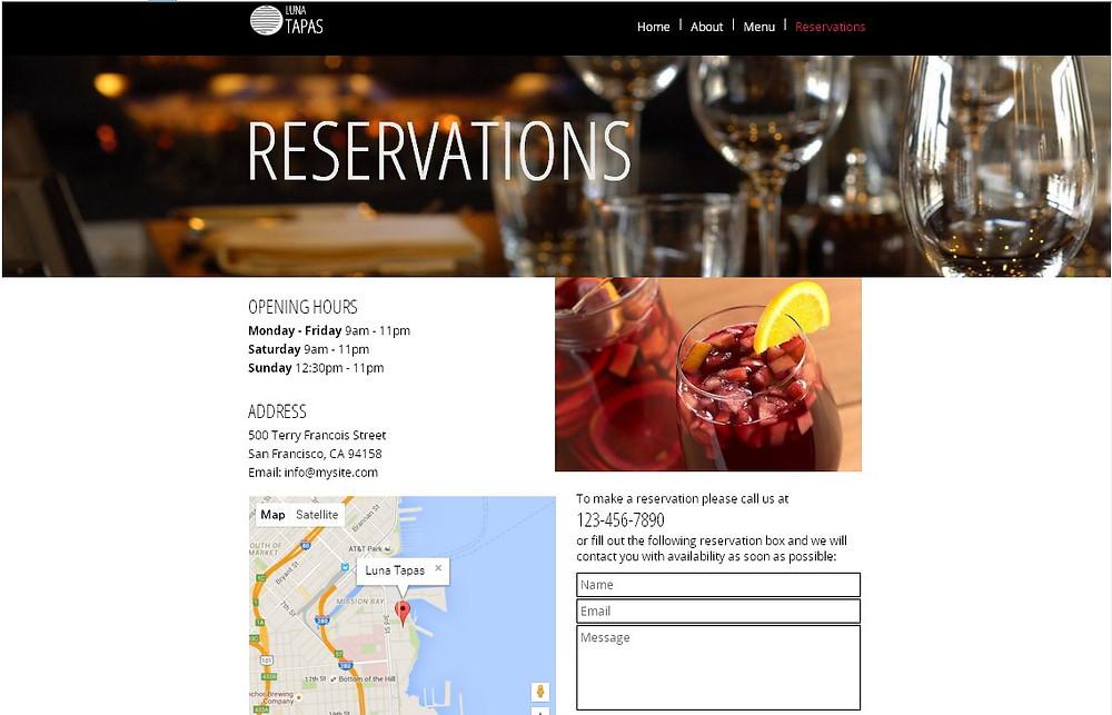 餐廳網站設計-頁5