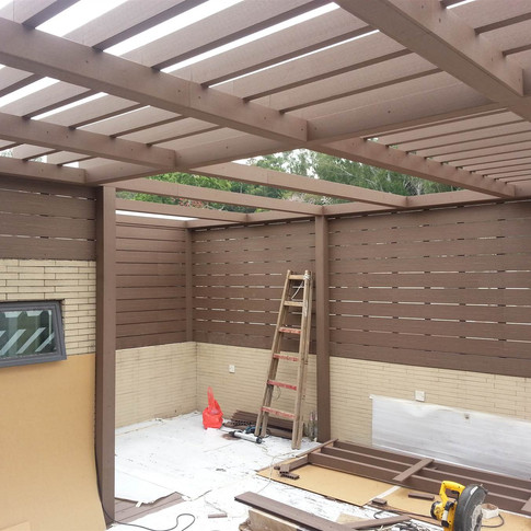 山貝村戶外木工程4
