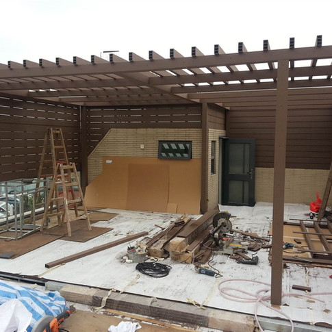山貝村戶外木工程1