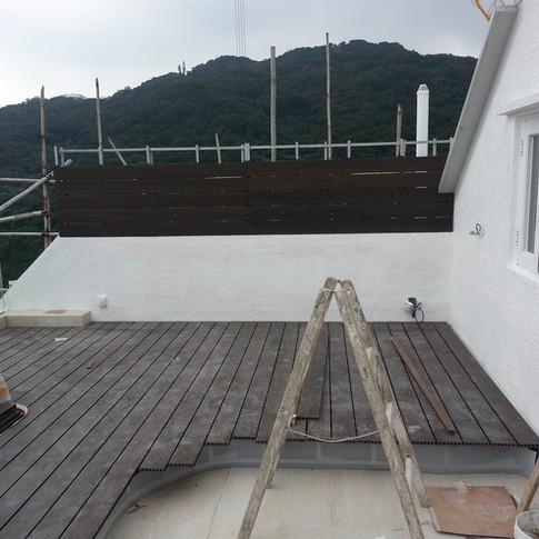 西貢戶外木工程12
